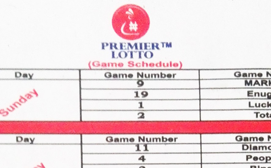 Baba Ijebu Game Schedule - Premier Lotto games