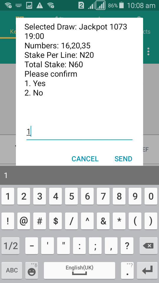 Baba Ijebu PERM2 on MTN - Confrim lotto bet