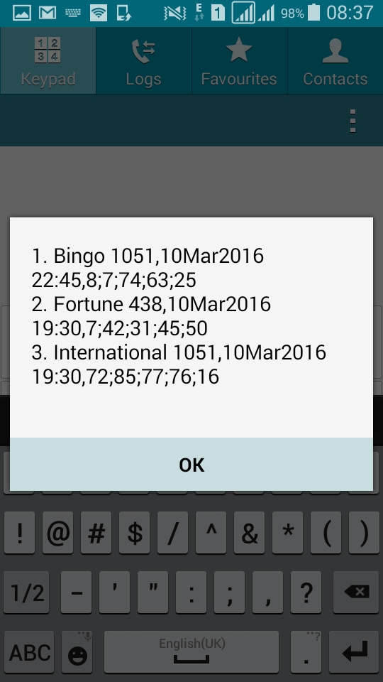 Baba Ijebu on MTN account - latest lotto draws